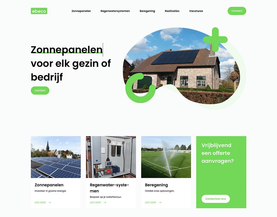 Een frisse website voor een milieubewust bedrijf