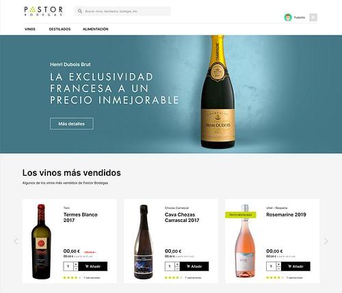 Pastor Bodegas - Creación de Sitios Web