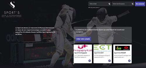 Sport's By Laura Flessel - Application web