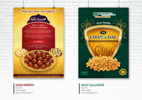 Creative Flyer Design for Ilyas Sweets And Mast Qa