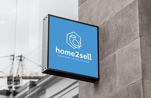 Logo en website voor immo-site Home2sell - Ontwerp
