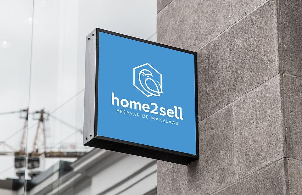 Logo en website voor immo-site Home2sell