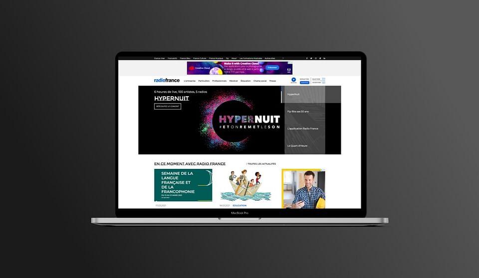 Radio France - Design/UX/UI, Drupal, SEO, Ateliers