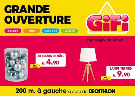 Campagne d'ouverture 1er magasin GIFI Suisse