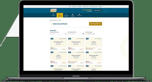 Site internet et extranet b2b - Application web
