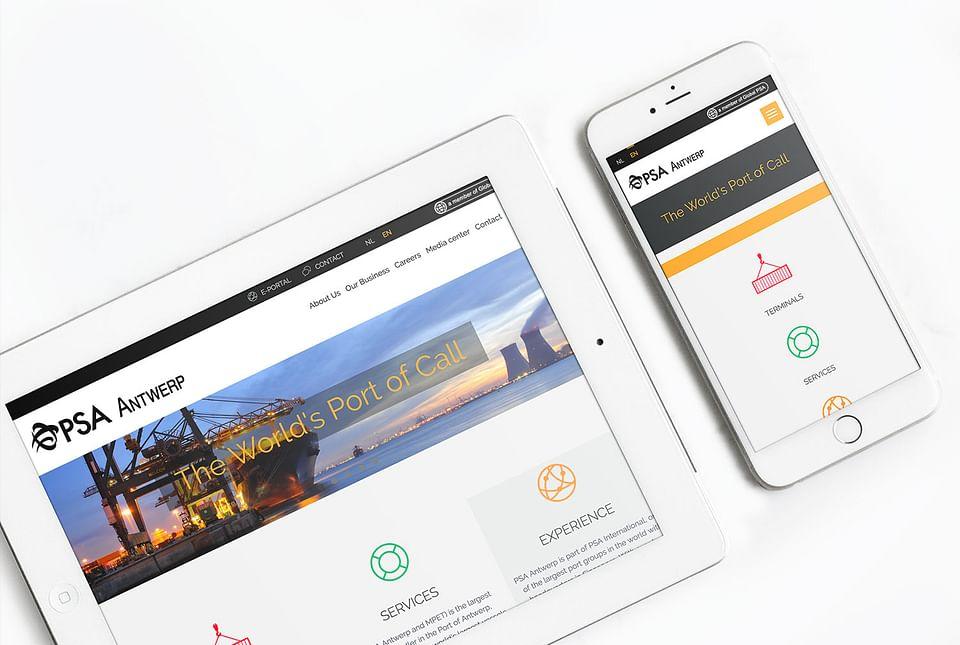 Agency Calibrate for PSA Antwerp - website