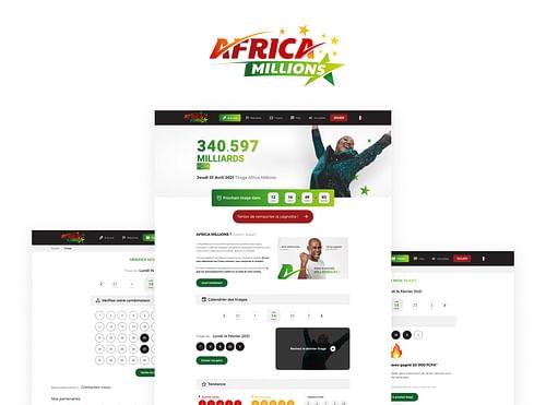Africa Millions - Conception UX/UI Site Vitrine - Création de site internet