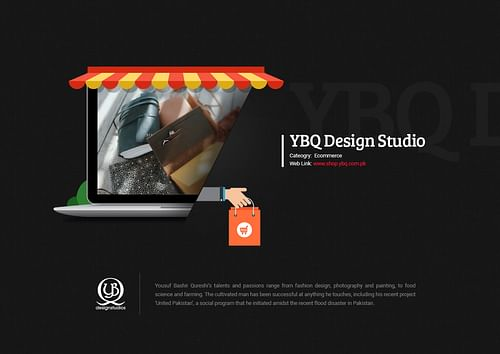 Ecomerce Website Design for YBQ Design Studio - Website Creation
