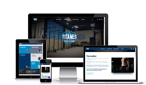 Web Gym Titanes Box - Redes Sociales