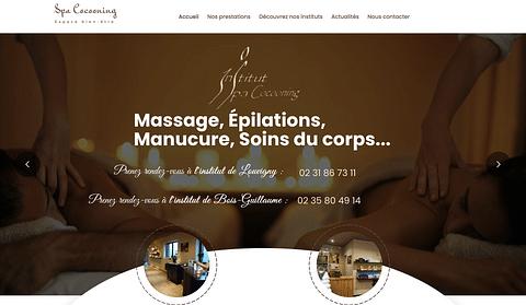 Site E-commerce Institut de beauté Spa Cocooning
