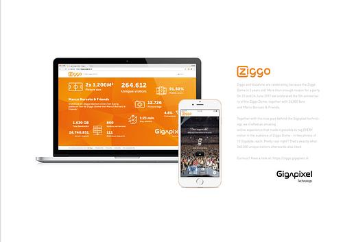 Vodafone & Ziggo: Gigapixel Marco Borsato - Website Creatie