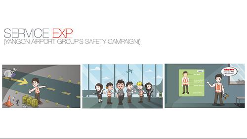 Yangon Airport Group (YAG) - Graphic Design