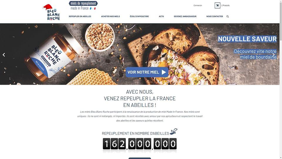 Site e-commerce Bleu Blanc Ruche