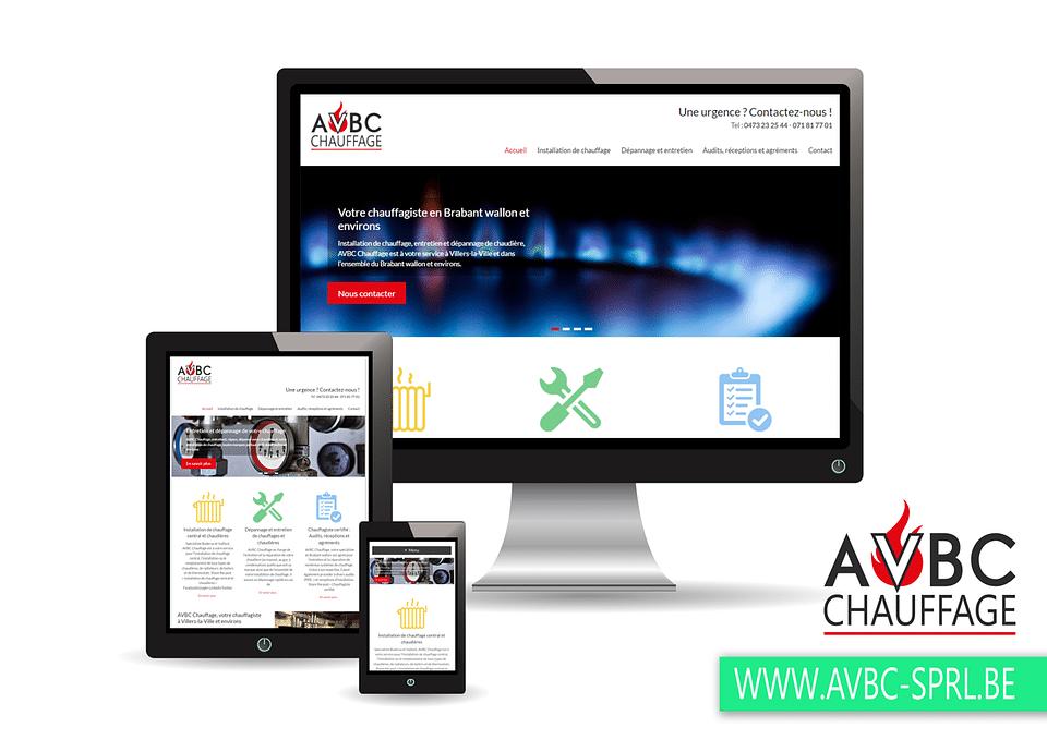 Création d'un site internet pour AVBC SPRL