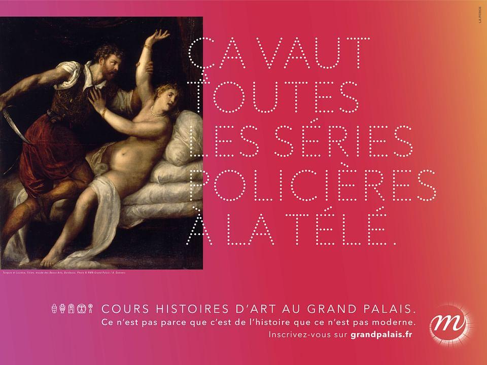 Campagne d'affichage, print et social media -musée