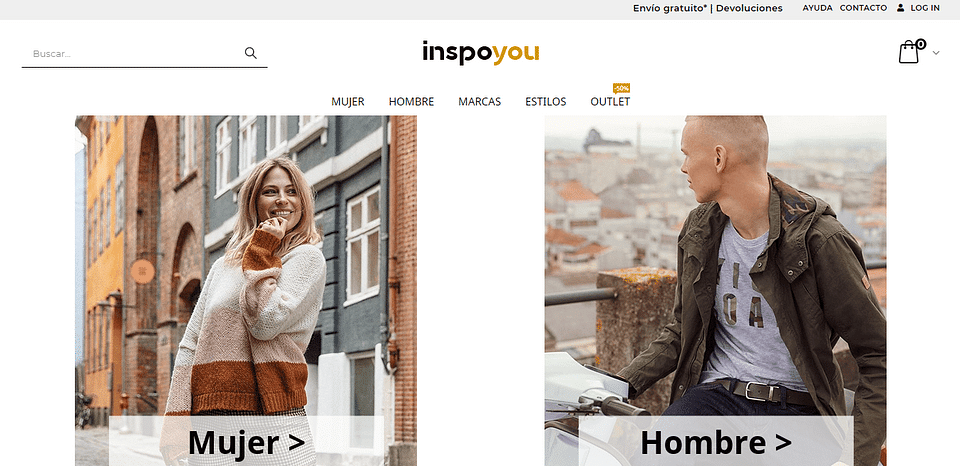 Creación ecommerce tienda online de moda Inspoyou