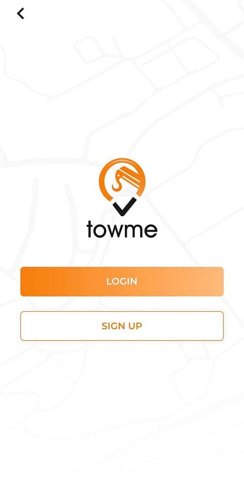Towme Application Road Assistance services app - Mobile App