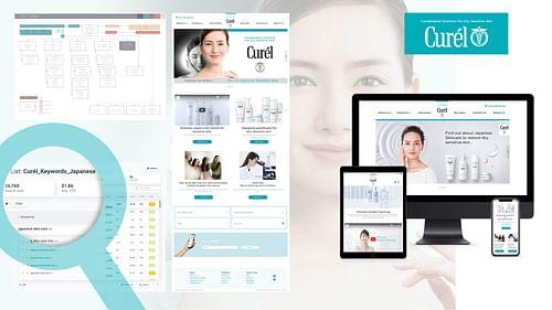 Curél Website UK/US - Webseitengestaltung