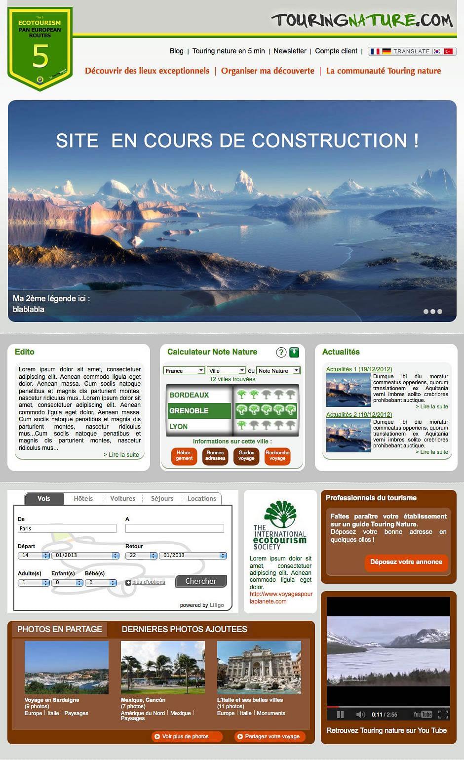 Création d'un site et d'une plateforme e-tourisme