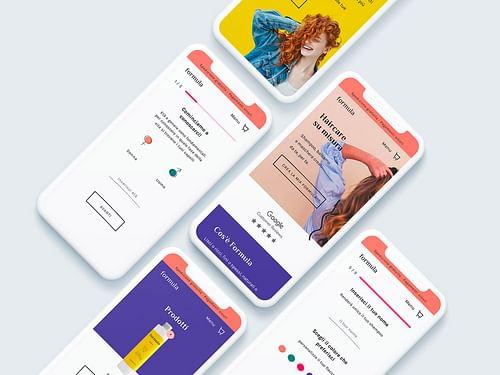 My Formula - Branding e piattaforma e-commerce - Applicazione Mobile