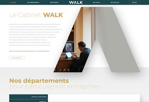 Walk - site web pour un cabinet d'avocats - Création de site internet