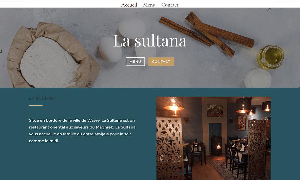 Mise en place d'un site web selon les visuels