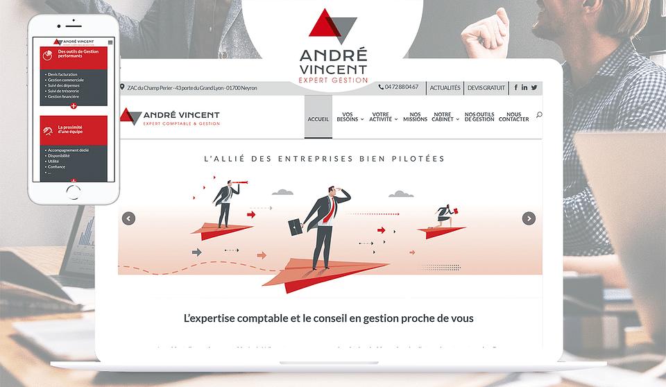 André Vincent - Réalisation site WordPress Expert
