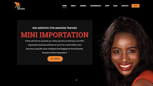 Mrs Bisi Akintayo's Project - Website Creation