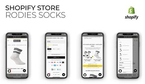 RODIES® Socks B2C Shopify Online Store - E-Commerce