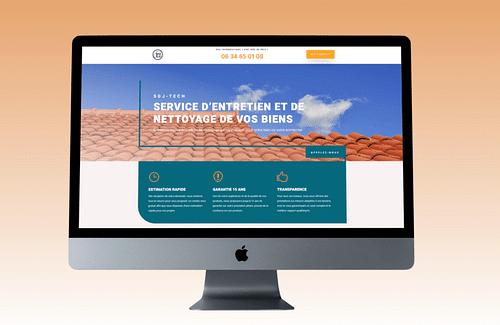 Site vitrine : entreprise de nettoyage - Création de site internet