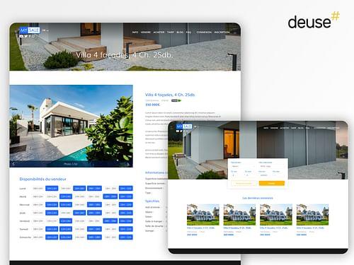 Plateforme de vente de biens immobiliers - Web Applicatie