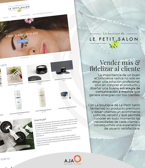 Tienda online para Le Petit Salon - Creación de Sitios Web