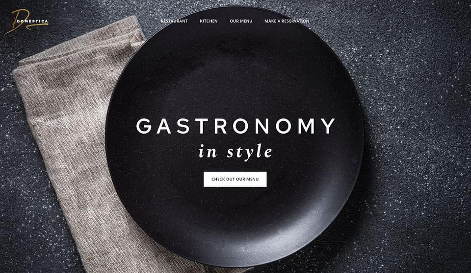Frisse website voor restaurant