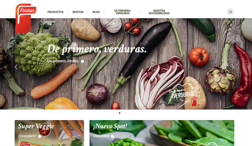 Sitio web y catálogo de Findus España - Retail