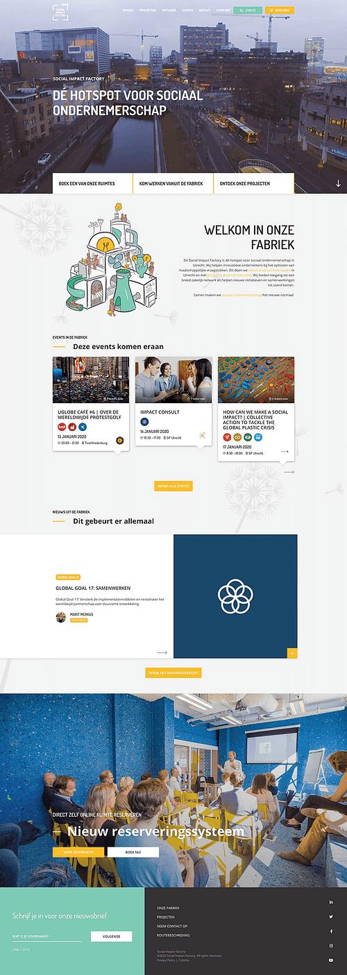 Social Impact Factory - Website Creatie