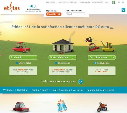 Website B2C Ethias - Application web
