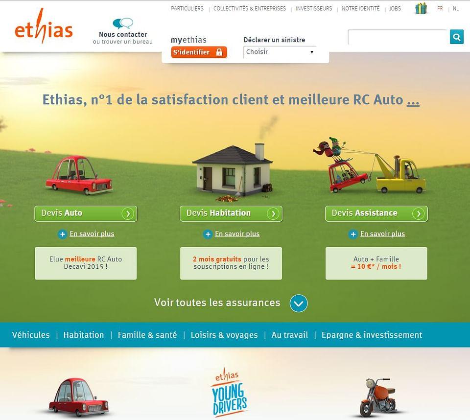 Website B2C Ethias