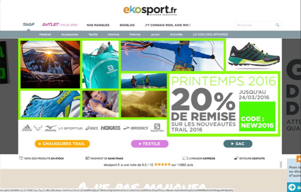 site e-commerce EKOSPORT