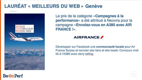 Campagne Facebook pour Air France