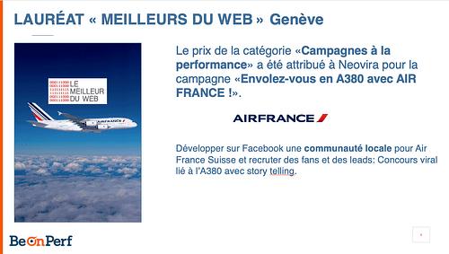 Campagne Facebook pour Air France - Stratégie digitale