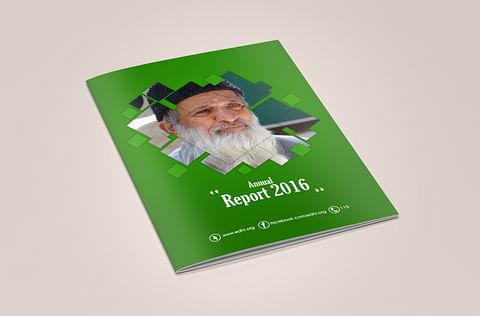 Annual Report Design for Edhi Foundation
