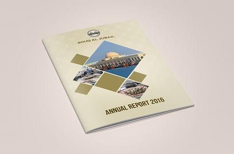 Annual Report Design for Souq Al Jubail