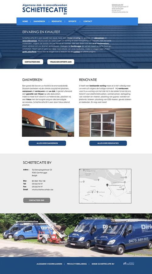Website for Schiettecatte BV - Digital Strategy
