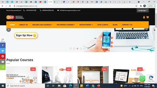 Website Development ( with SEO standards ) - SEO