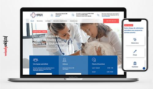 Un site en urgence pour Urgences Vet's - Website Creatie
