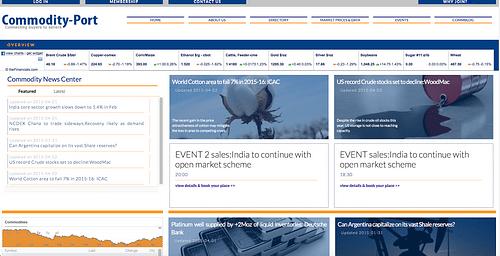 Commodity Port - Website Creation
