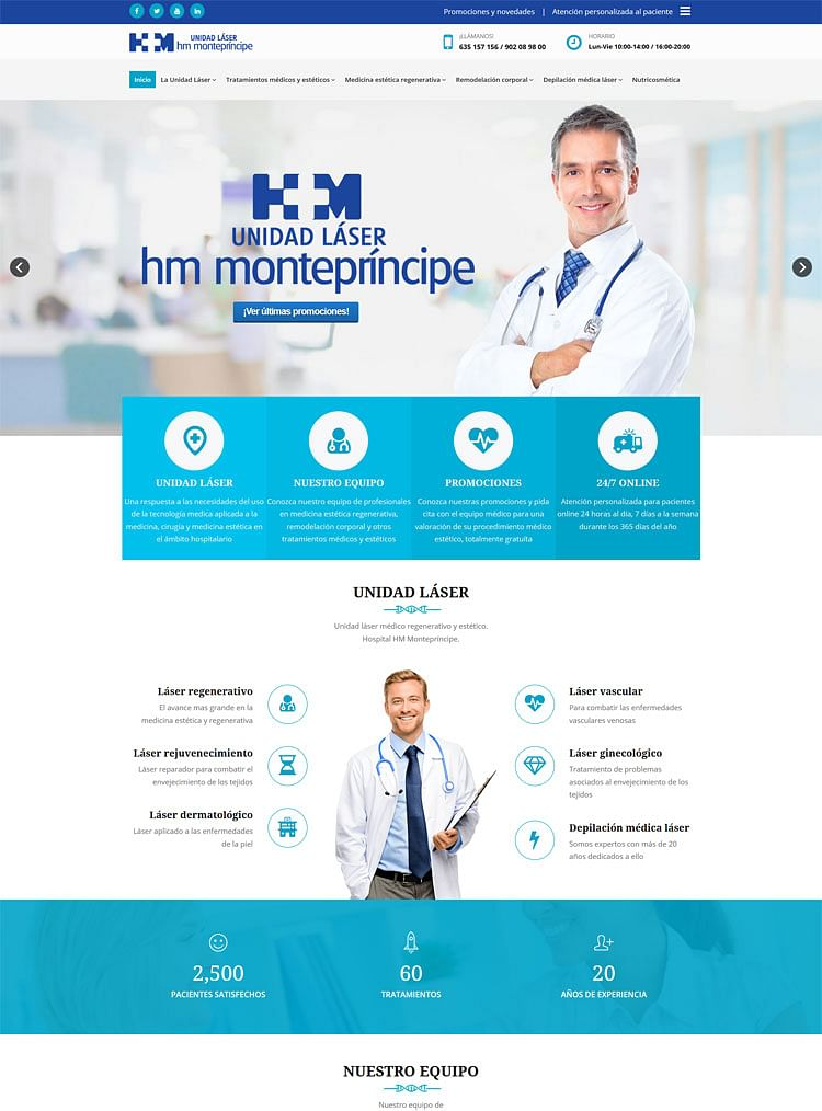 Web Unidad Laser del hospital HM Montepríncipe