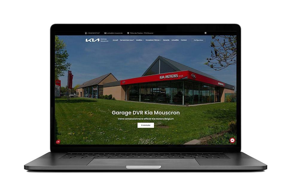 Site vitrine - KIA Mouscron DVR