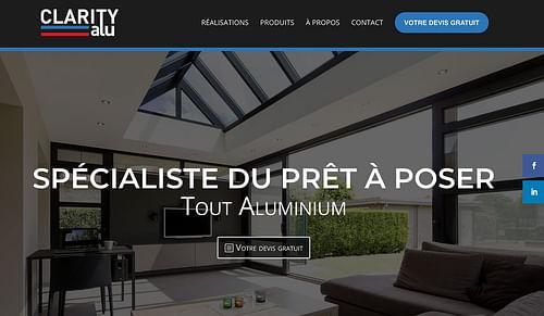 Site vitrine Clarity Alu - Création de site internet