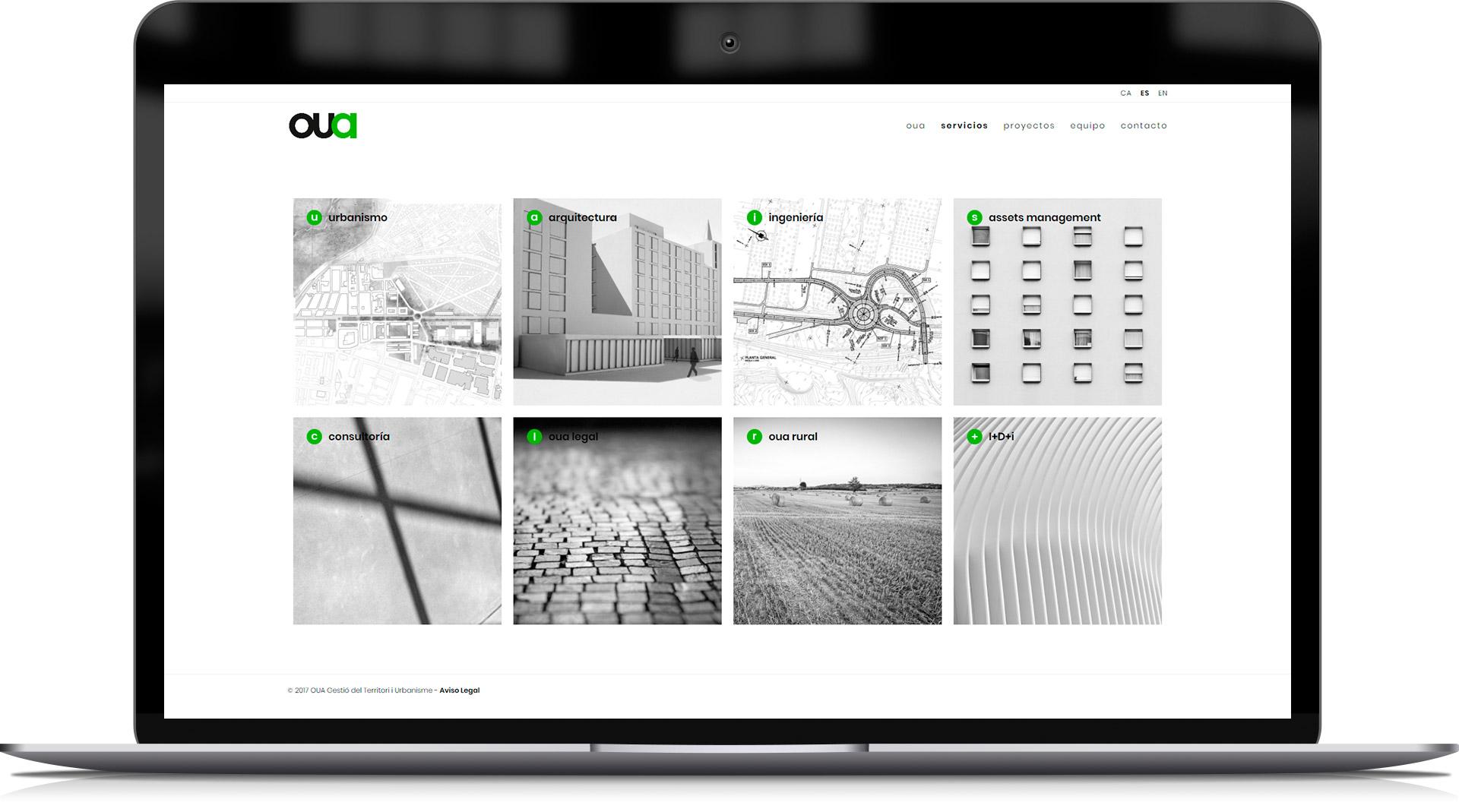 Website para empresa de urbanismo y arquitectura